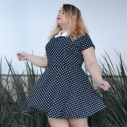 VESTIDO VINTAGE DOLL POLKA DOT MANGA CURTA EXCLUSIVO SURPREENDA STORE