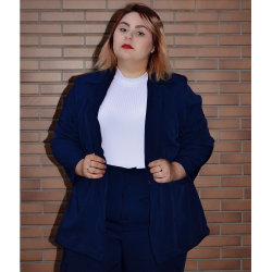 BLAZER ALFAIATARIA ALONGADO GIRLS ON FIRE AZUL MARINHO